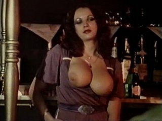 Busty and unshaved women fuck in front of other guests