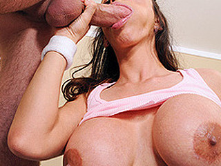 Welcome to Boobie Break. The show dedicated to making u healthier and harder. Ariella Ferrera and James Deen cum jointly to show u the importance of stretching, cardio, sit ups, jumping rope, deep throating, knob riding,  titty fucking, and so much more. So what are u awaiting for? Stay hard and have fun.