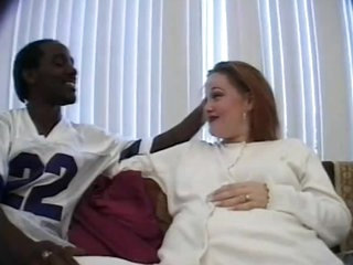 Preggy Takes Hot Interracial Anal Creampie