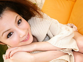 Rina Koizumi Lovely Asian model is getting her curly love cave slurped