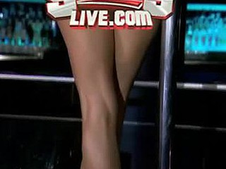 `Danielle Staub, formerly of `The Real Housewives of Ci-devant Jersey,` goes wild in excess of a stripper pole at ScoresLive.com.`