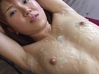 Miku gets messy cum facual cumshots throughout this movie.