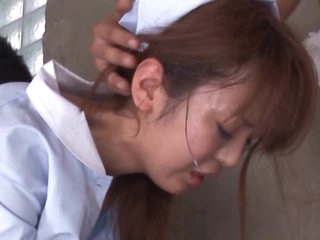 Sexy Oriental Nurse Sayaka Fukuyama Sucks Cock With a Sexual connection Toy In her Pussy