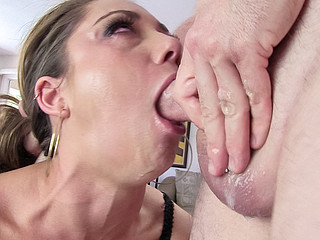 Remy shows u how much this babe worships hard penis in her mouth!