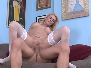 Tanya hears about her daughters bf's schlong and desires a ride!