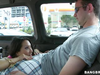 Welcome to the Team fuck Bus! The place where pornstars pick-up you from the street to fuck them good. See Asa Akira finding a guy, wrapping her wet lips around his hard cock and then riding it as a real champion. Will this guy acquire wild and fuck her in the ass and then giving her a cumshot?