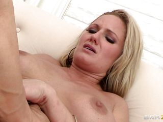 naughty blonde gilf takes a big hard dick in her asshole