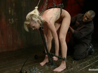 golden-haired slut tied and punished