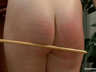 blonde tied and team-fucked by large rods