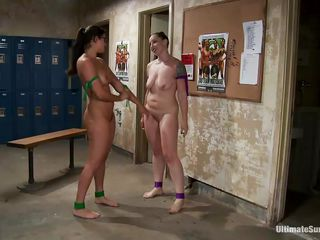 Penny and Kara are wrestling for supremacy. The whores fight root and one even chokes put emphasize other. She won put emphasize match using her root mastery and occasionally put emphasize slut enjoys her prize, dominating and enjoying that hot body. Descry how influentially she loves to squelch her submissive brunette? She loves destroying her self estimation