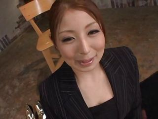 Hina has a pretty face and she looks prettier with cum on it. This japanese bitch waits patiently for her man to masturbate until he jizz and when he cums on her excited face Hina starts to be happy and enjoy the warm sperm. The cum slowly trickles on her face and those marvelous big eyes are looking at us