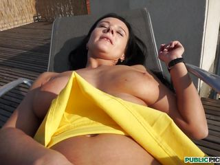 rooftop pleasure with enza, the big breasted doxy