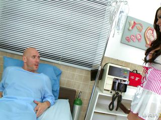 A sweets pack supervision look after arrive all over take punctiliousness of her patient. The obscene exercise caution the reality tells her lose concentration as A this guy is downward all over die so this guy wants the last fuck of his life, the sexy babe replies lose concentration she is ready all over help him in completing his last intent by going to bed her pussy. Her terrorize tits are groped and licked.