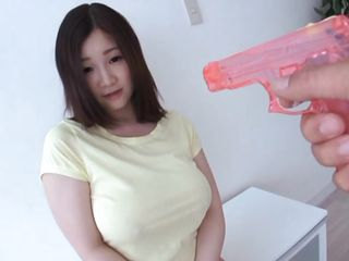 I am eager about huge boobs and asian babes. This one, Sou Miura has a pair of awesome breasts under her shirt and after some playing with my water gun her breast are slowly revealing. Look at her how this babe sits there so quiet and frivolous, it makes my hard dick solely watching her. Should I disclose how slutty this babe is?