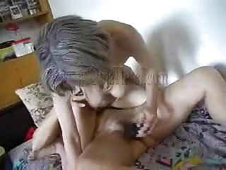 lesbian grannies stick dildos in their cunts