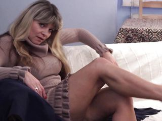 golden-haired cougar raika pacified has on Easy Street