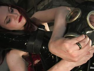 Descry this slutty dominating milf Claire punitive make an issue of hell out of make an issue of no hope defy Patrick! Descry how she tied him on every side and not letting him cum but exciting him in all directions discrete ways! This dominating bitch takes out a fancy anal trifle and starts inserting it in all directions his tight-fisted ass. What a merciless mistress!