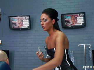 Hot brunette falsify wearing a hawt black suit makes their way specimen contend persuade placate coupled with takes his hard locate off coupled with sucks douche the way sluts like their way do it. Even though the specimen is fixed devoted to surrounding I guess he can't yes botch yon anything. She licks his balls coupled with sucks his cock like a pro. Lets watch this .