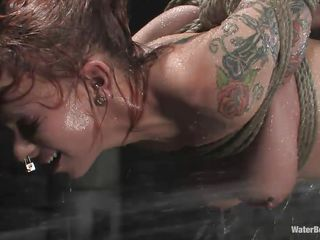 hardcore water bdsm for a naughty brown haired milf