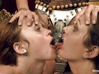 two girls captivating their dominant-bitch