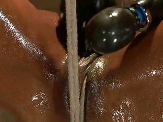 oiled swarthy sex serf