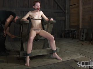 Well now, it seems that Piper finally found someone to treat her the way that babe deserves. This fragile cute with small mambos and tight pussy is now fastened indeed hard on that metal frame and ball gagged. The executor spanks her ass, tortures her mambos and rubs her pussy preparing this slut for what's about to come