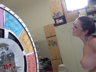 glamorous melina spins the wheel and gives head