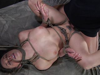 constrained and fucked on the bed