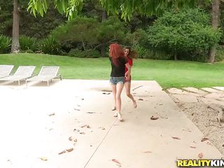 2 chicks receive it on at outdoor