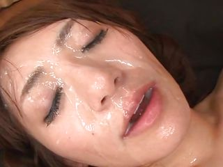 A japanese woman look worthwhile with cock in her mouth but that babe looks even greater amount excellent with hot semen all over her face. Saki enjoys giving head because that babe just loves the feeling of jism all over her face. See how when that babe opens her mouth after getting cum covered? She loves to smack it also and probably will receive some greater amount