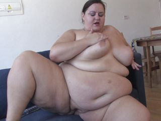 big mama playing dildo wildly