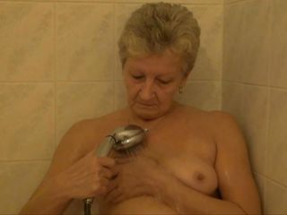 grandma masturbates more the shower