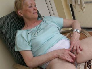 When granny Marie sits on her armchair she likes to relax and nothing relaxes her better then a good old fashioned pussy rub. Marie is an old slut and she did this a lot of times so she knows how to do it. This time, she does it with greater quantity pleasure, knowing that we are watching and that excites her a lot