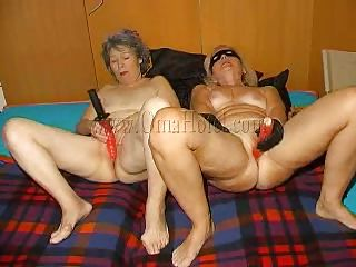Hot grannies begin masturbating with those big red dildos and when they are ready they form a admirable 69. These old, saggy and wrinkled strumpets are fucking wildly and lick their shaved cunts with desire. Are those sluts going to do greater amount then a 69? And if so, what are they up to? Let's stay with 'em and find out!