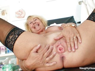 granny blonde sadness with large bowels masturbating at offices