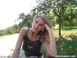 Watch Jana, a blond honey from my city meeting me a hanging out here and there for some unusual pleasure! I offered her to have sex with me with my camera turned on! She acquiesced and we walked around a park. There this babe showed me her tits. teased me and lastly we had a place where this babe can suck my cock!
