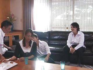 Rika is an arrogant mature woman and these guys want to educate her a lesson. She needs to learn her position in the Japanese society and what is her place in front of men. They grab her, spread those sexy thighs and finger her pussy roughly in advance of mouth fucking her. Maybe this and much more will make her yielding
