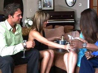 The 1st time Lexi and Rocco tried wife switching it ended badly when the other spouse decided he just wanted to watch. So this year, for Lexi's birthday Rocco surprised her with chance to swing with a hawt mature pair that are just plain bored. Coupl