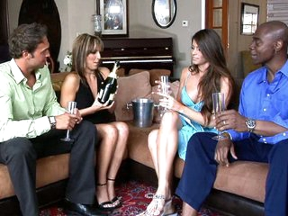 The first time Lexi and Rocco tried wife switching it ended badly when the other husband decided he just wanted to watch. So this year, for Lexi's birthday Rocco surprised her with chance to swing with a sexy older couple that are just plain bored. Coupl