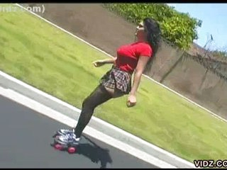 Skater girl double penetration