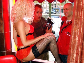 A german on the hunt for a blond chick with some big silicone boobs! Everyone knows that Germans know their porn, this guy ordered a real hot blond babe in stockings who was willing to do anything she was getting paid for, including a facial! Once we