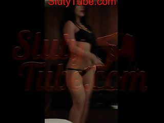 delicious non-professional latin cutie dancing to the samba rythm