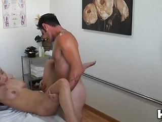 Massage room exposes amazing with an increment of lecherous sex