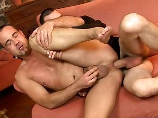 XXX whacking big gay is smiling from pleasure be proper of an attractive anal opening penetration