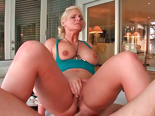 Phoenix Marie sucking big pecker and riding on it wildly
