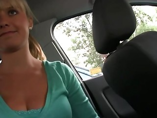 Sweet chick sucks on dudes schlong hungrily at put emphasize public toilet