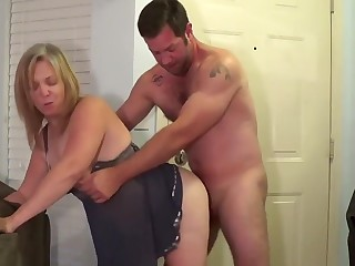 hot wife cheats adjacent to neighbor cumshot exceeding her face