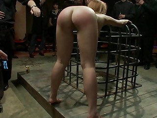 Strung nigh naked and whipped