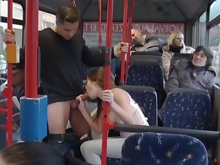 Fucking in along to bus