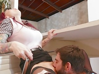 Monique Alexander & Logan Long in Over Put emphasize Counter - SneakySex